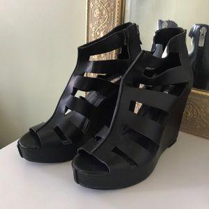BCBGeneration Leather Wedge Heels